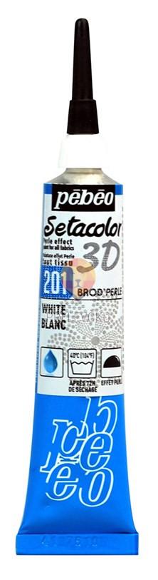 Kontura za poslikavo tekstila Setacolor 3D BROD'PERLE 20ml
