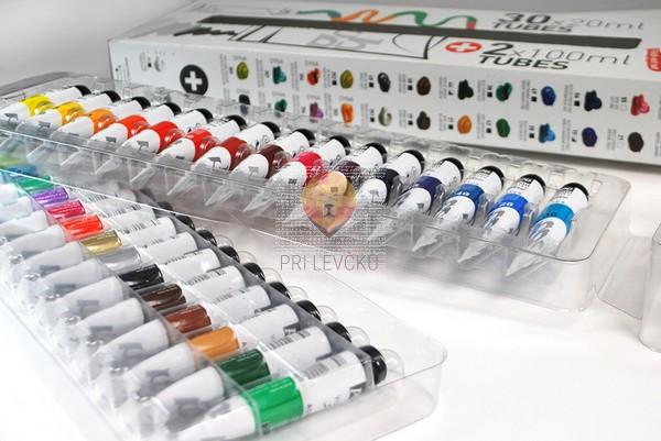 Set akrilnih barv STUDIO ACRYLICS 30 x 20 ml + 2 x 100 ml