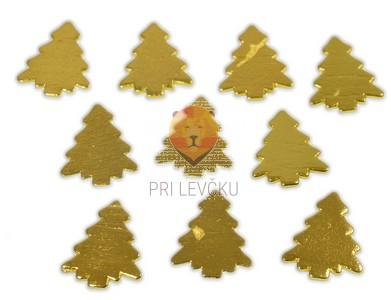 Lesene smrečice zlate 10 kosov