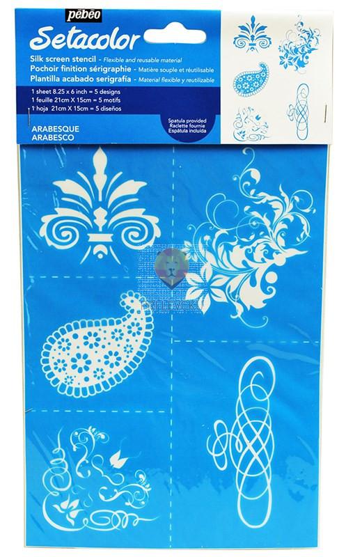 Setacolor šablona za tekstil - Arabeska A5 format