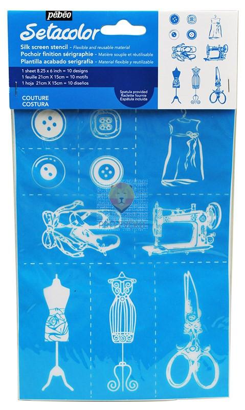 Setacolor šablona za tekstil - Couture A5 format