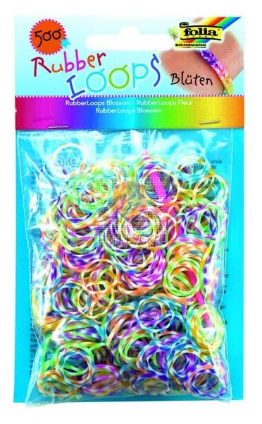 Gumijaste vrvice rožice barvni miks 500 kosov