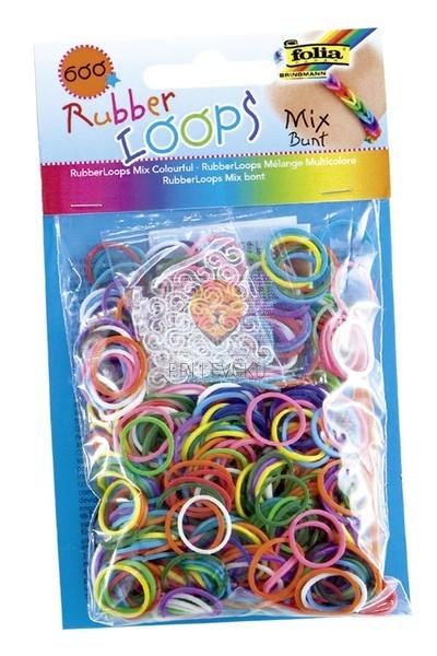 Gumijaste vrvice barvni miks 600 kosov