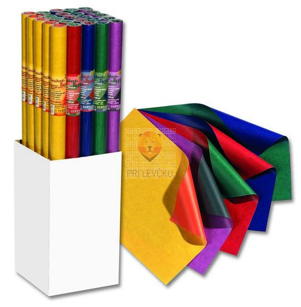 Darilni papir obojestranski kontrastne barve, 70 cm x 2 m, 70 g/m2