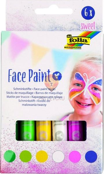 Barve za obraz v svinčniku Sweet 6 kosov