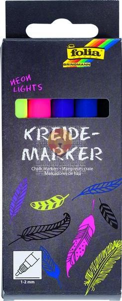 Set krednih flomastrov Neon lights debelina konice 1-2mm 5 kosov