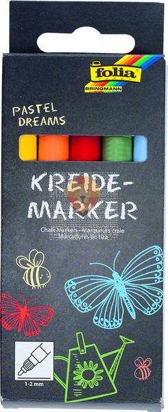 Set krednih flomastrov Pastel dreams debelina konice 1-2mm 5 kosov