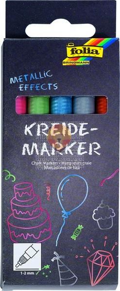 Set krednih flomastrov Metallic effects 1-2mm 5 kosov