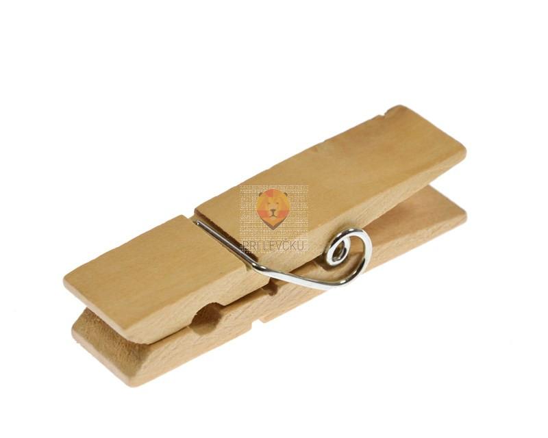 Široke lesene ščipalke 1,7x7cm 10 kosov