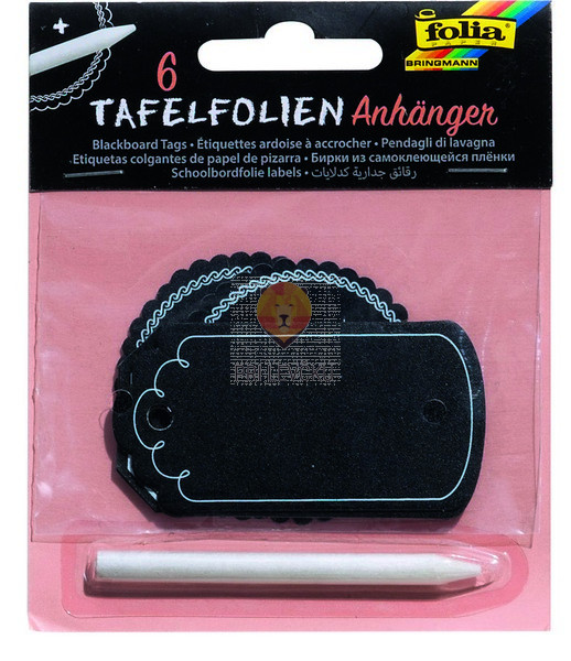 Kartončki s kredno barvo 6 kosov in kredni svinčnik