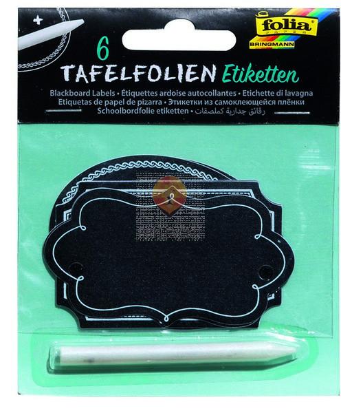 Samolepilne etikete s kredno barvo 6 kosov in kredni svičnik