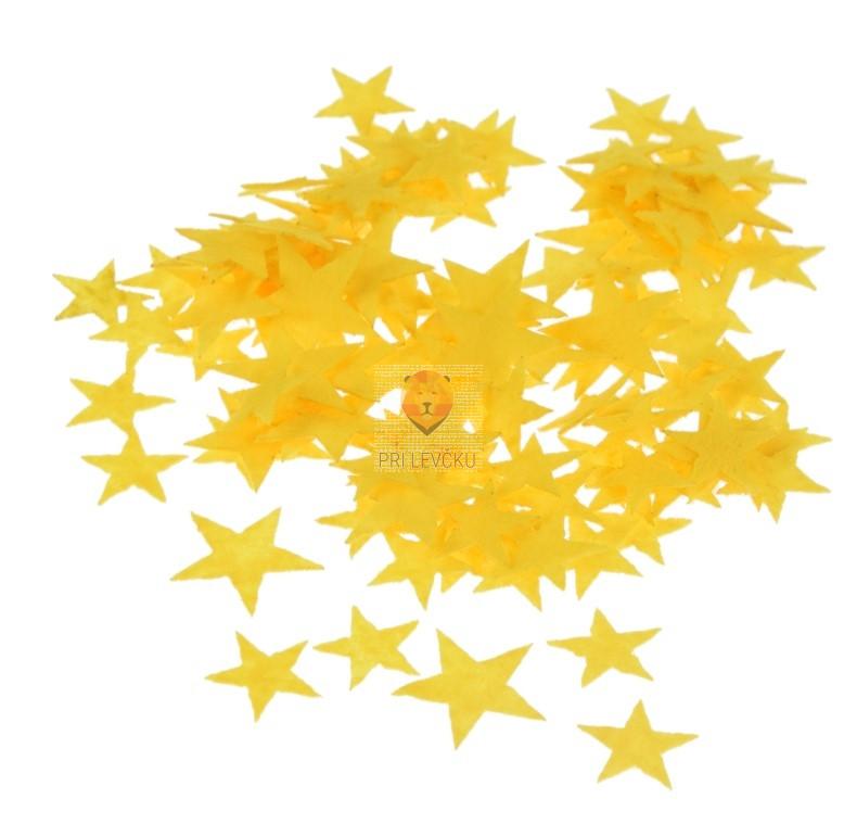 Filc zvezdice rumene 2 g