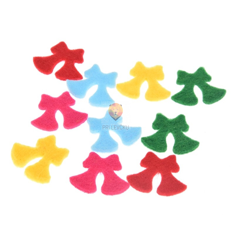 Filc zvončki miks barv 10 kosov