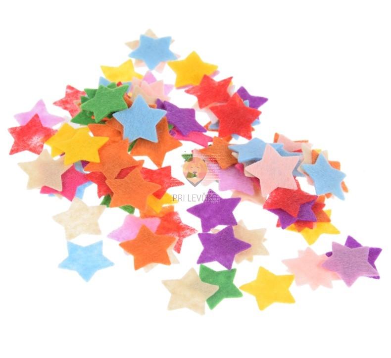 Filc zvezdice miks barv 3 g