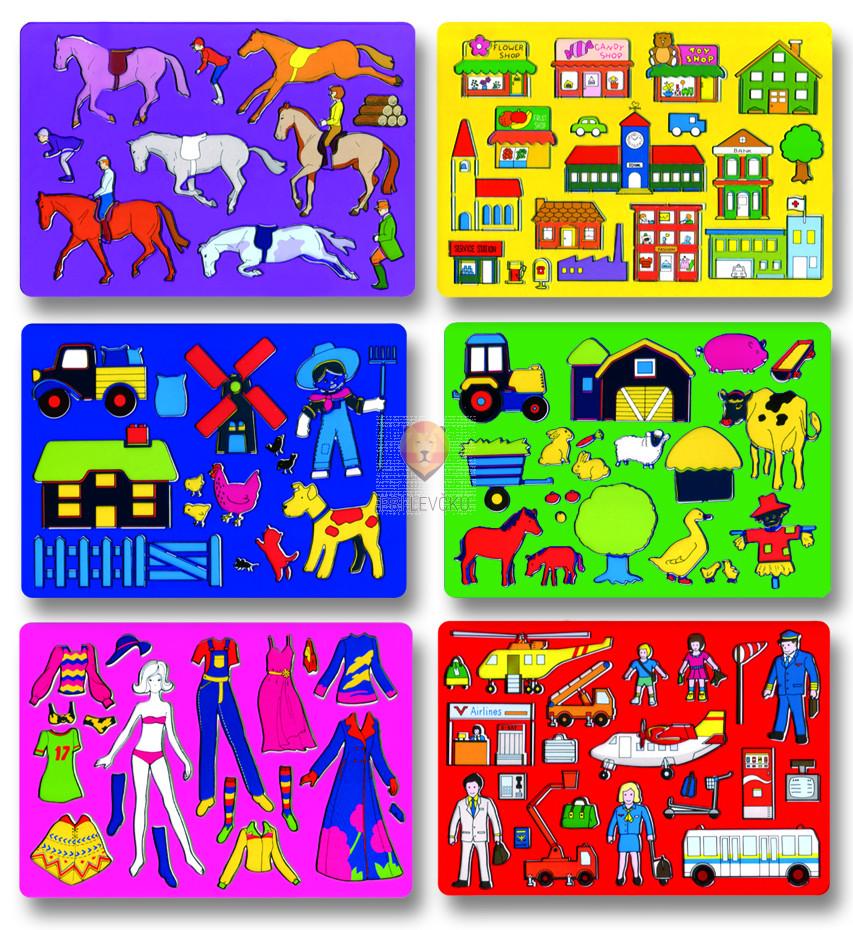 Set šablon Splošni motivi 6 kosov