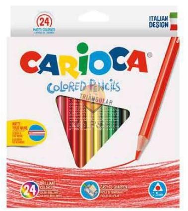 Trikotne barvice Colored pencils 24 kosov