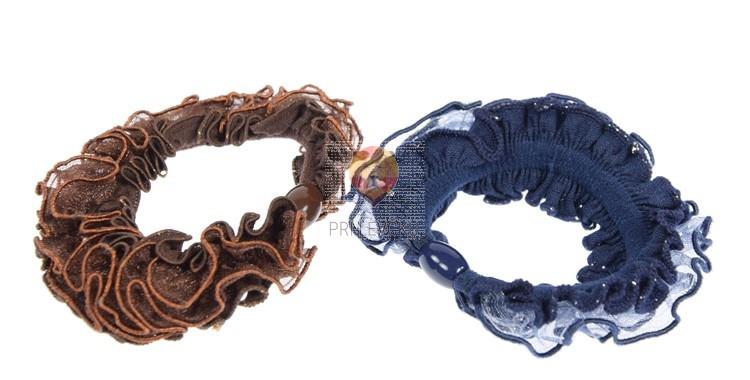 Elastika za lase barvni miks 2 kosa