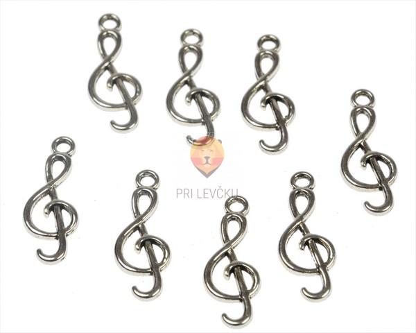 Kovinski obesek violinski ključ, 8 kos