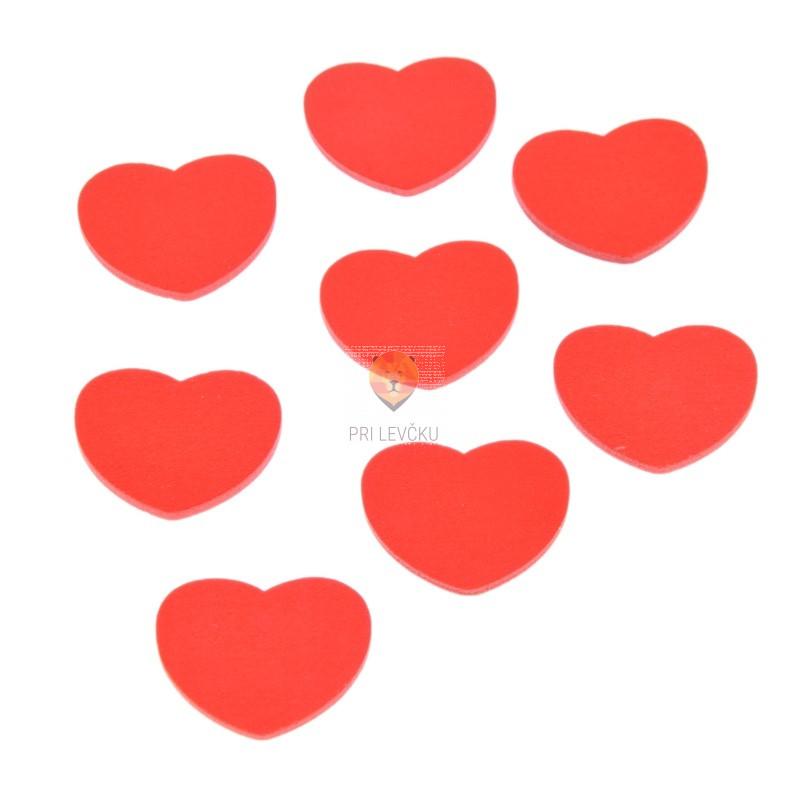 Leseni okraski Srčki rdeči 3cm 8 kosov