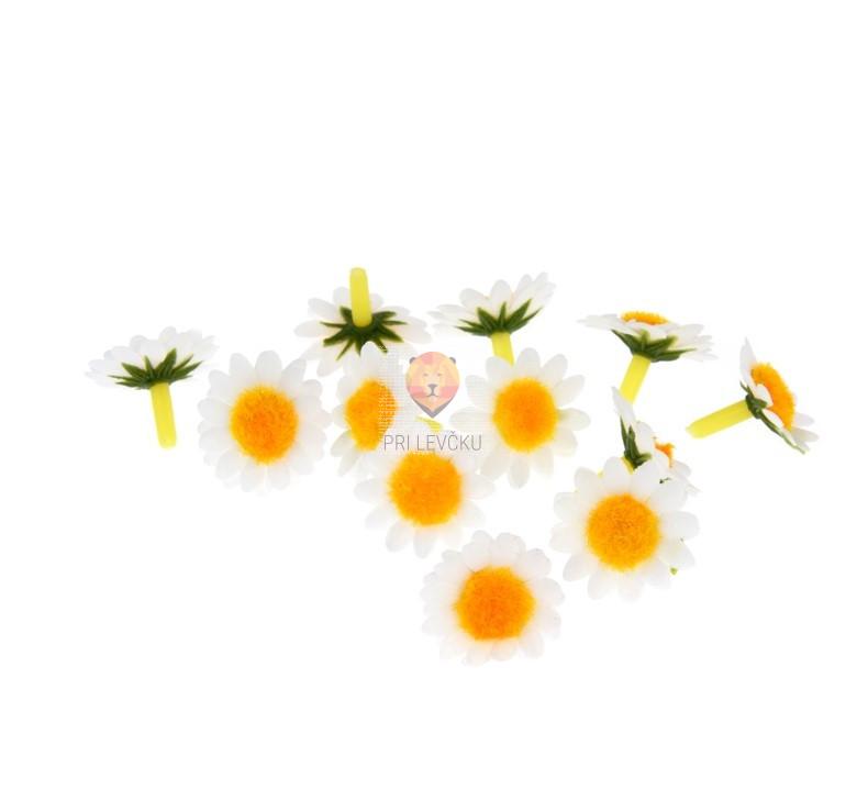 Marjetice bele 2,5cm 12 kosov
