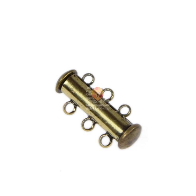 Zaključek varnostni magnetni 3 vrstice barva staro zlato 1 kos