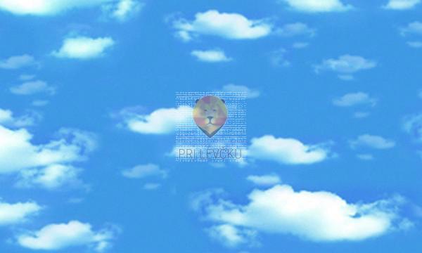 Karton z motivi Oblaki 50x70cm 1 kos