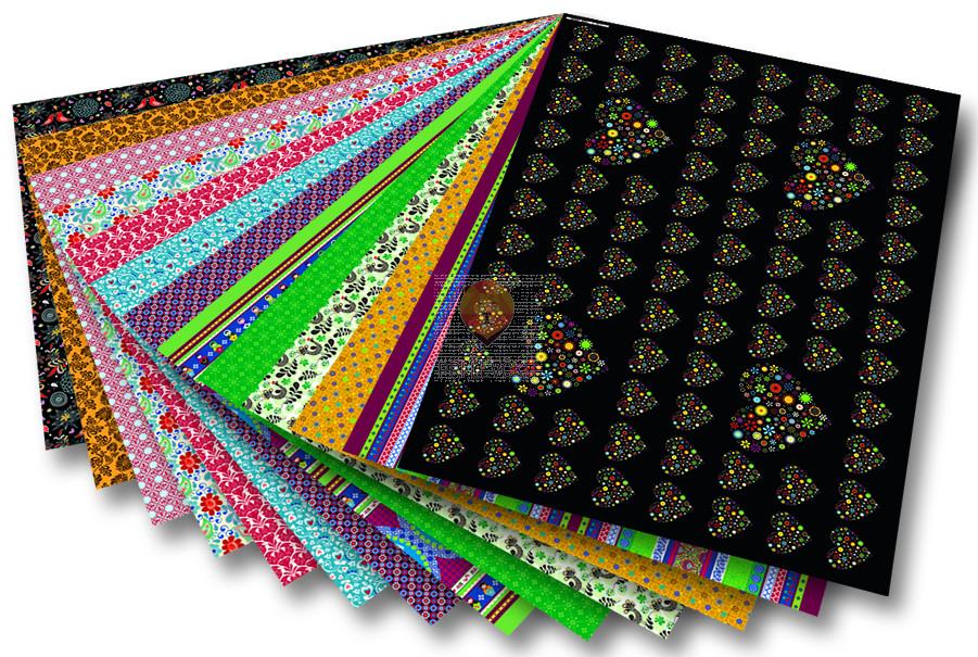 """Motivkarton z vzorci """"Folklora"""" - 50 cm x 70 cm"""