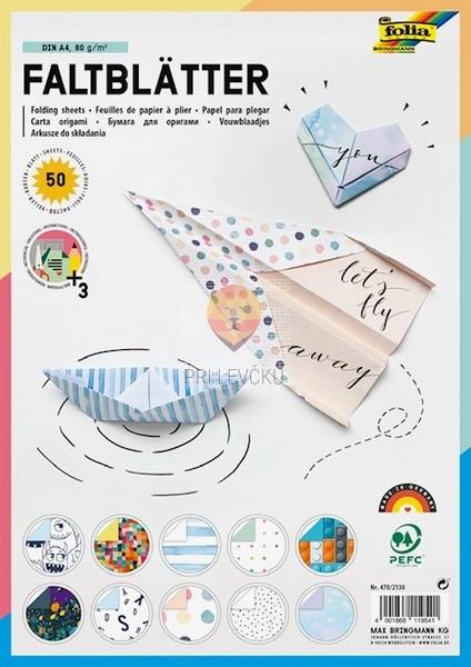 Origami papir 10 motivov A4 80g/m2 50 listov