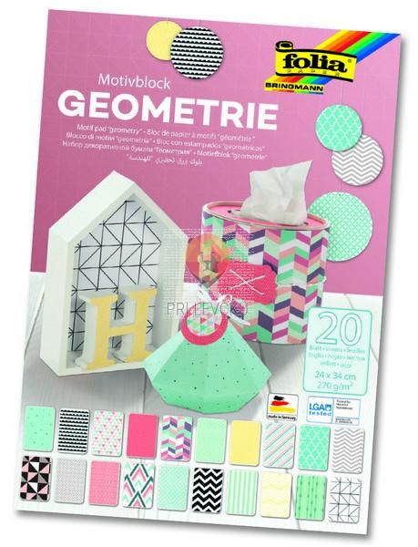 Motivblok Geometrie 24cmx34cm 20 listni
