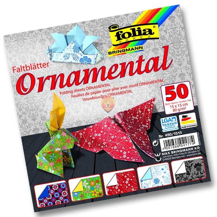 Origami papir Ornamental 10cmx10cm 50 listov