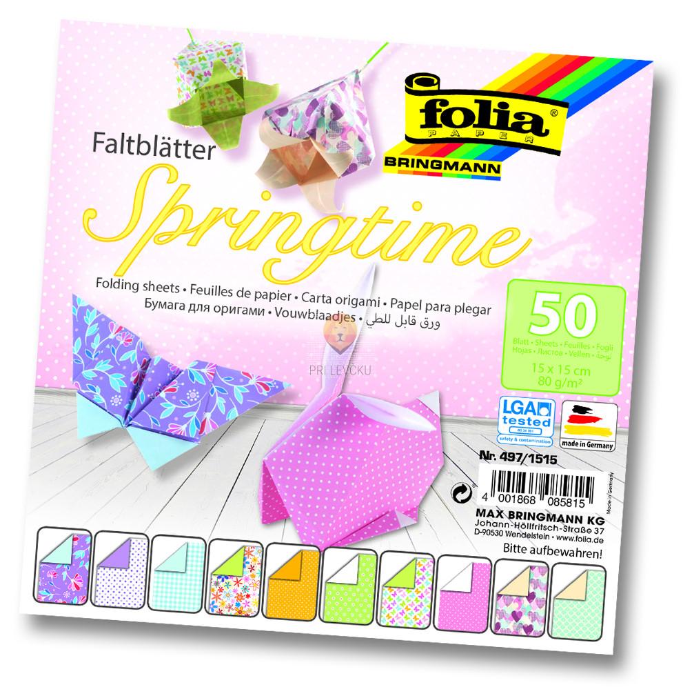 Origami papir Springtime 15cmx15cm 50 kosov