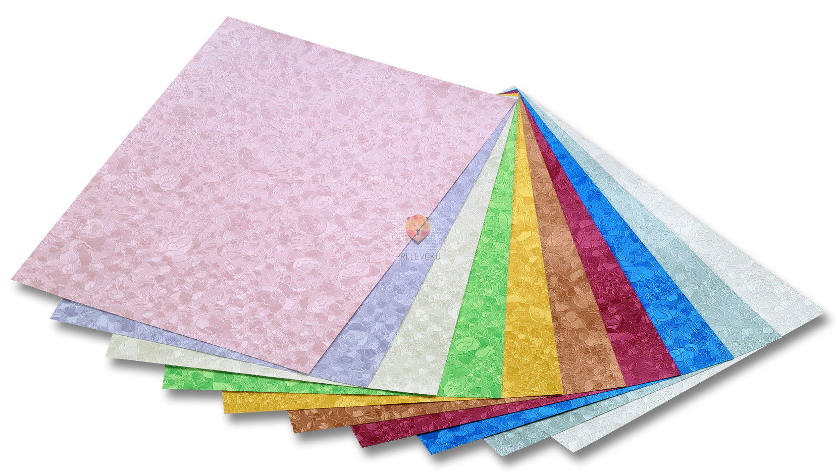 "Papir METALLIC vzorec ""Rože"" - 50 cm x 70 cm"
