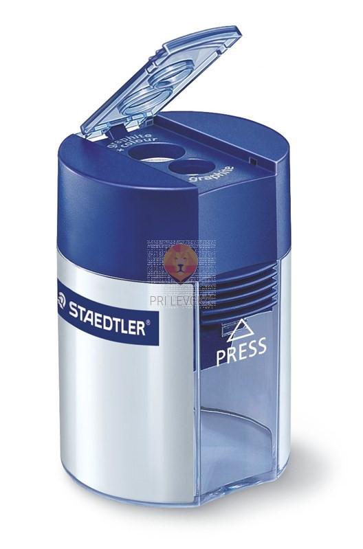 Dvojni kovinski šilček s plastičnim kontejnerjem Staedtler