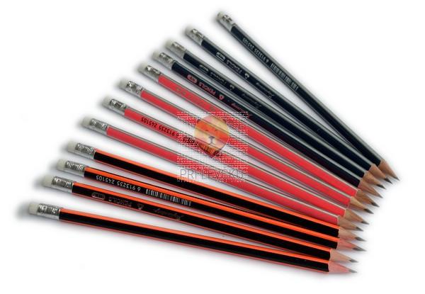 Klasični svinčnik trikotne oblike, HB, različne barve, 1 kos