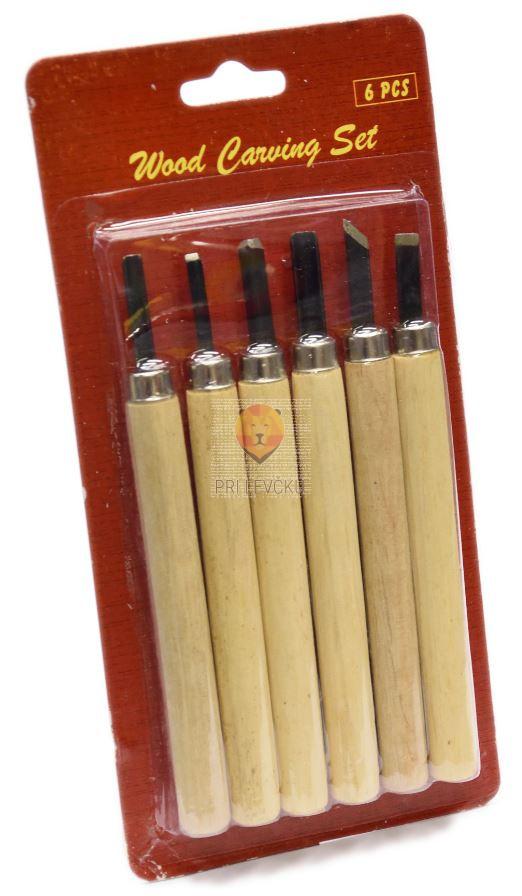 Noži za linorez in rezbarjenje z držali 6 kosov