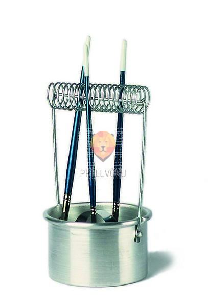 Aluminijasta posodica za čiščenje čopičev, 1 kos