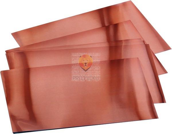 Folija za vtiskovanje bakrene barve 30 kosov