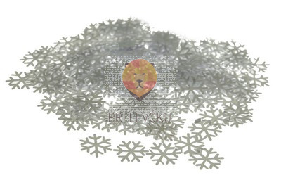 Bleščice Snežinka bela 12 g