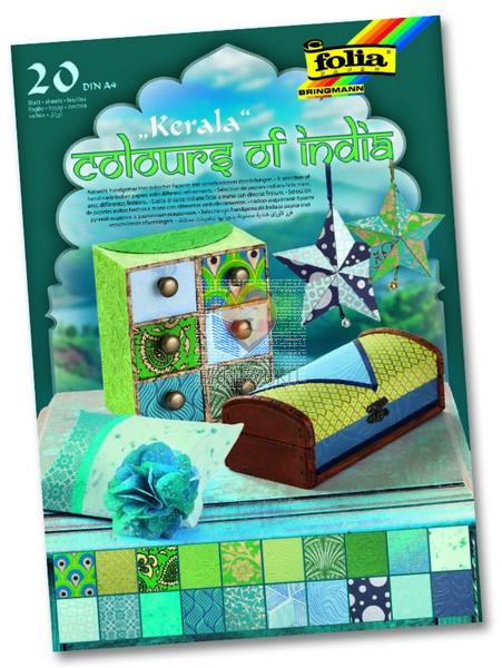 Blok papirjev Colours of India Kerala 20 listov