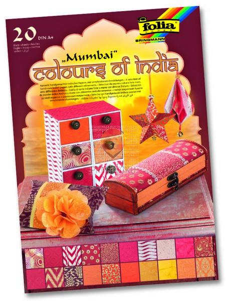 Blok papirjev Colours of India Mumbai 20 listov