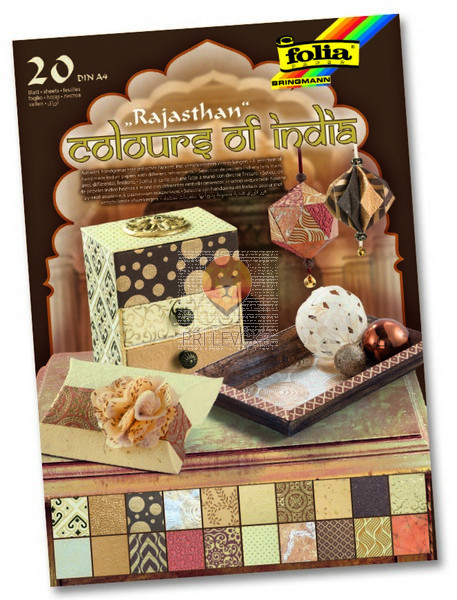 "Blok papirjev ""Colours of India - Rajastan"" - 20/1"