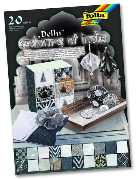 Blok papirjev Colours of India Delhi 20 listov