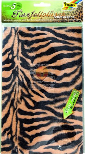 Samolepilni pliš živalski vzorci 17x27 cm 5 kosov