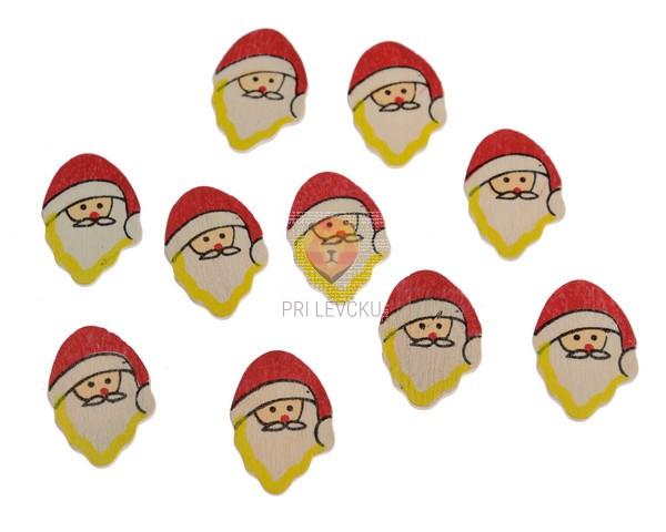 Leseni okraski - Dedek Mraz 6 kos