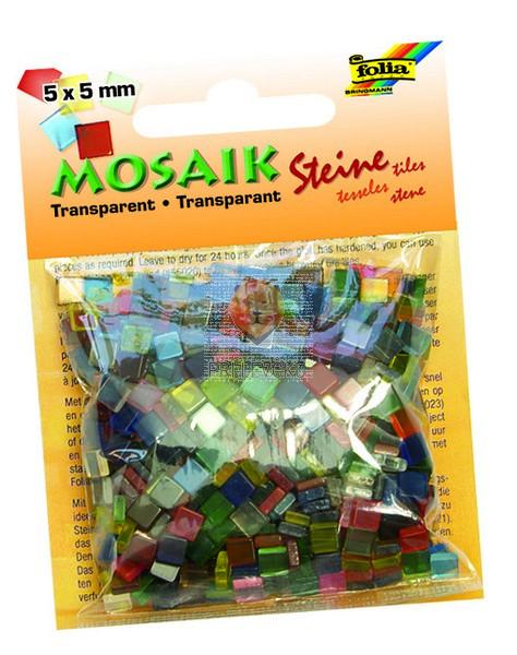 Mozaik prosojen 5x5mm barvni miks 700 kosov