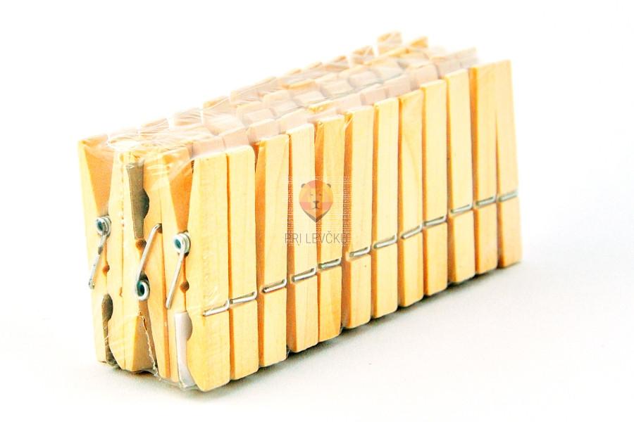 Lesene ščipalke 1x7cm 24 kosov