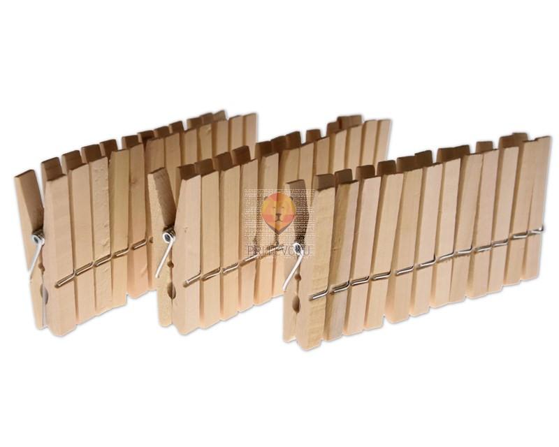 Lesene ščipalke 4,5x0,7 cm 36 kosov