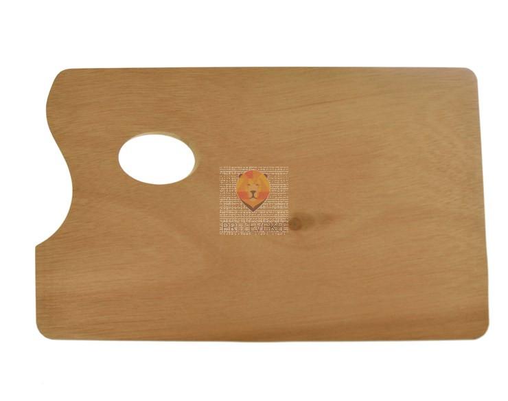 Paleta za mešanje barv - lesena ravna