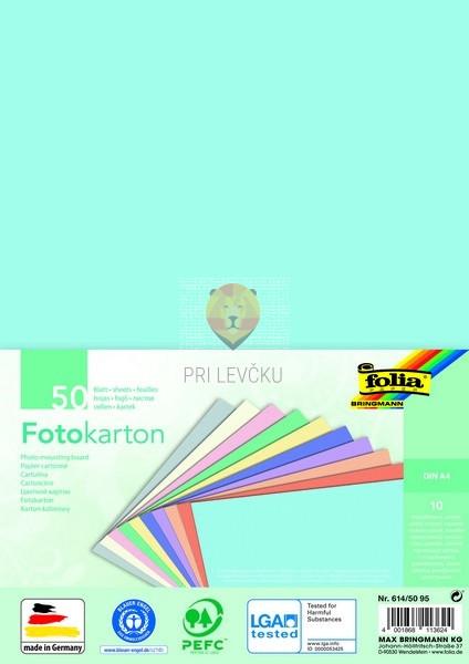 Barvni karton Pastel format A4 50 listov