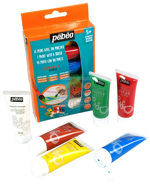 Set PRIMACOLOR tempera barv, 6 x 20 ml